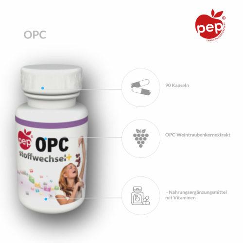 OPC Weintraubenkernextrakt – Nahrungsergänzungsmittel mit Vitaminen